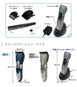 ウォータープルーフヘアカッターα ガンメタ ピーナッツ・クラブ KA-00271GM/B