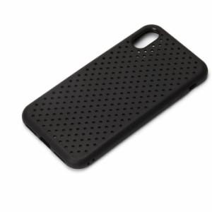 iPhoneX 用 ドットメッシュケース ブラック PGA PG-17XTP10BK