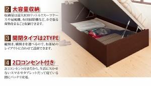 組立設置 通気性抜群 跳ね上げベッド Prostor プロストル マルチラススーパースプリングマットレス付き 横開き セミダブル グランド