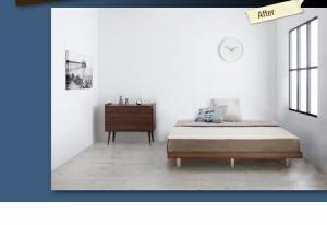 ベッド 【Bona】 ボーナ 木脚タイプ【ボンネルコイルマットレス:ハード付き:セミダブル:フルレイアウト】セミダブルフレーム