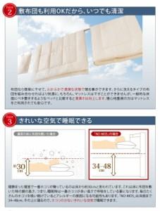組立設置 通気性抜群_ガス圧式大容量跳ね上げベッド No-Mos ノーモス 薄型ボンネルコイルマットレス付き 横開き セミシングル ラージ