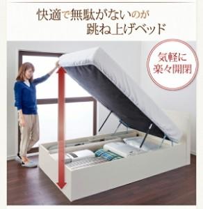 組立設置 跳ね上げベッド Prepare プリペール ボンネルコイルマットレスタイプ 縦開き セミダブル グランド