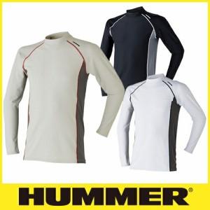 夏用インナー 長袖シャツ HUMMER ハマー 9003-15 クールコンプレッション長袖ローネック 暑さ対策