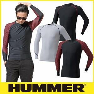 夏用インナー 長袖シャツ HUMMER ハマー 9020-15 極涼 クールコンプレッション長袖クルーネック