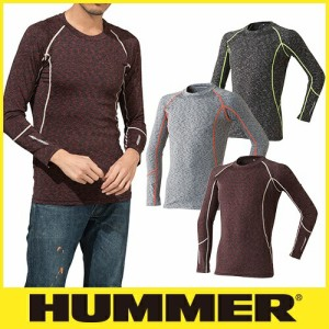 夏用インナー 長袖シャツ HUMMER ハマー 9025-15 クールコンプレッション長袖クルーネック