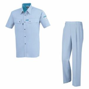 【作業服 上下セット】 ジーベック (1552 半袖シャツ + 1550 スラックス) 夏用(春夏)