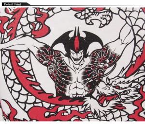 CHIGIRI[ちぎり] × デビルマン コラボ 闘龍 和柄Tシャツ/半袖/CHS22-593/送料無料