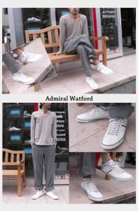 【即納】Admiral アドミラル スニーカー Watford ワトフォード トリコロール(SJAD0705-14 CO)