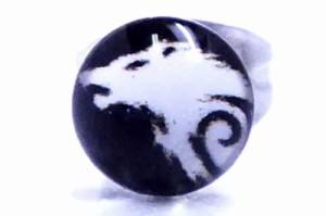 ローンウルフステンレスピアス/1個販売 オオカミ イヌ 狼 犬 ドッグ 動物ピアス アニマル サージカルステンレス316L 20G 20ゲージ メンズ