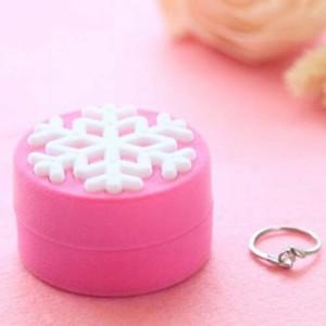 スノークリスタルギフトケース 雪の結晶 氷 おもしろ ラッピングボックス 指輪 リング ピアス イヤリング ネックレス 贈り物 店舗用 業務