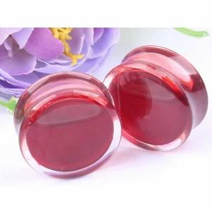 [ 液体 オモシロ プラグ型 ボディピアス ]  リキッドプラグ ブラッド レッド 血液 赤色 2ゲージ 2G 0ゲージ 0G 00ゲージ 00G 12.0mm 12mm
