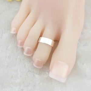 フラットトゥリング 足の指輪 トーリング 足のリング ピンキーリング フリーサイズ レディース メンズ シンプル プレーン ワイド シルバ