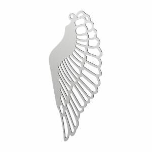 ミカエルステンレスパーツ/1個販売 ウイング 翼 羽 天使 エンジェル サージカルステンレス316L ペンダント トップ ネックレス パーツ ス