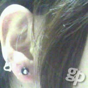 風さんの耳のボディピアス写真★プラグ/8ゲージ(GG)(M)