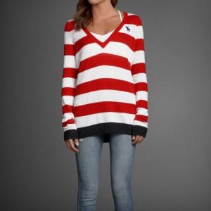 アバクロキッズ AbercrombieKids 正規品 子供服 ガールズ セーター gwen sweater RED