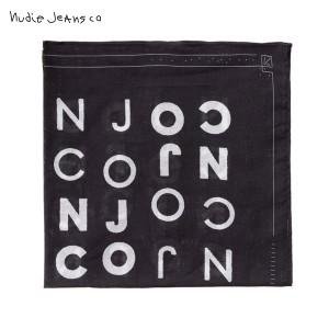 ヌーディージーンズ Nudie Jeans 正規販売店 メンズ スカーフ Jansson B01 Black 180649