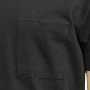 ヌーディージーンズ Nudie Jeans 正規販売店 メンズ クルーネック 半袖ポケットTシャツ KURT WORKER TEE BLACK B01 131532