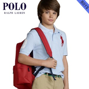 ポロ ラルフローレン キッズ POLO RALPH LAUREN CHILDREN 正規品 子供服 ボーイズ ポロシャツ Big Pony Mesh Polo #18121236 LIGHT BLUE