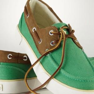 ポロ ラルフローレン POLO RALPH LAUREN 正規品 メンズ キャンパスデッキシューズ Rylander Canvas Boat Shoe GREEN
