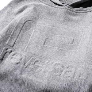 リバーサル REVERSAL 正規販売店 メンズ プルオーバーパーカー EMBOSS LOGO SWEAT PARKA rv17aw015 HEATHER GRAY