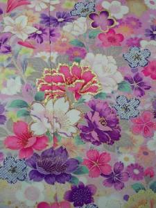▲正絹本振袖・お誂え仕立て付▲ピンク地に花柄no15