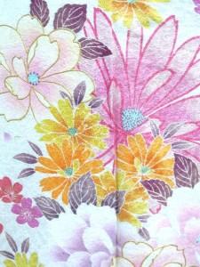 【往復送料無料】 ★正絹振袖フルセットレンタル★白地に洋花柄no2