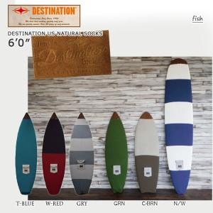 DESTINATION(デスティネーション) USナチュラルソックス サーフボードニットケース フィッシュ 6'0 サーフィン