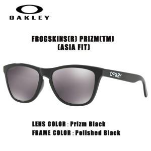 サングラス オークリー OAKLEY FROGSKINS フロッグスキンズ ASIAN FIT Polished Black/Prizm Black