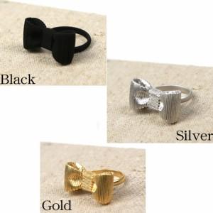 「なでしこ」 リボンモチーフリング 指輪 フリーサイズ レディース