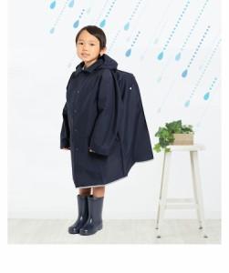 レインコート ランドセル対応 フード 雨具 女の子 男の子 こども 子供 紺 ネイビー お受験 通学 通園 RC-244120 ゆうパケット対応