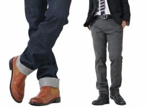 送料無料!即納 シークレットシューズ★7cmアップ!PUレザーサイドゴアシークレットブーツ★2色 メンズ サンタリート(BOOT03)shoes cmUP