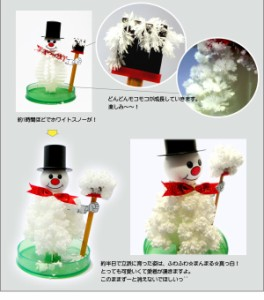 【クリスマス】 マジックツリーシリーズ 『スノーマン』 12時間で育つ不思議な雪だるま