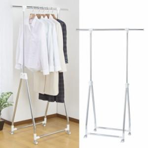 【送料無料】 Closet Hanger Rack 伸縮 自在 軽量 スムーズ ハンガーラック キャスター付き クローゼット コートハンガー 物干し
