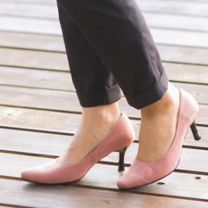 伝説の408シリーズ!マシュマロポインテッドトゥミドルヒールパンプス≪宅配便のみ≫痛くない|靴 エナメル 大きいサイズ スエード