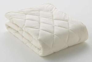 フランスベッドのクランフォレスト羊毛ベッドパッド ワイドダブル (重量 1.2 kG)