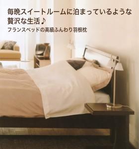 フランスベッドの枕・フェザーピロー(フェザー100%) シングル 【N】