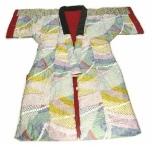 天然綿花100%の手作りかいまき(昭和レトロな着る布団 薄掛け)  メキシコ綿1.2kG入