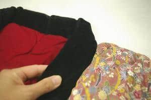 天然綿花100%の手作りかいまき(昭和レトロな着る布団)  メキシコ綿2.4kG入