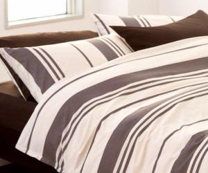 mee 西川の寝具カバー4点セット ME-06 ベッド用ダブル (掛けカバー+ベッドシーツ+枕カバー2枚)  カラー:ブラウン【KEY-C3】