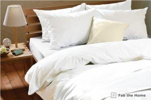 Fab the Home寝具カバー3点セット ソリッド ベッド用シングル(掛カバー+ベッドシーツ+枕カバー)  ホワイト【KEY-C3】【KEY-C5】