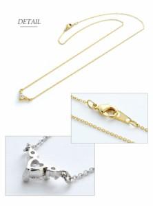 【 メール便 送料無料 】 ネックレス ハート キュービック ジルコニア キラキラ 小ぶり Luxury's ゴールド シルバー