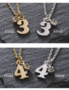 【 メール便 送料無料 】 ネックレス 数字 シンプル 運命数 ナンバー Luxurys ゴールド シルバー 上品 クラシカル