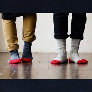 (スモールストーンソックス) SMALL STONE SOCKS リブ ソックス 靴下 配色  メンズ レディース 日本製