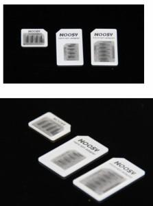 【送料無料】iPhone5/iPhone4変換用 Nano SIM Micro SIM 3タイプ変換アダプタ