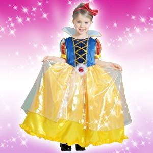 取寄品:3週間前後 ディズ3ー コスチューム 子供 女の子用 Sサイズ プリンセス 白雪姫 デラックス 仮装