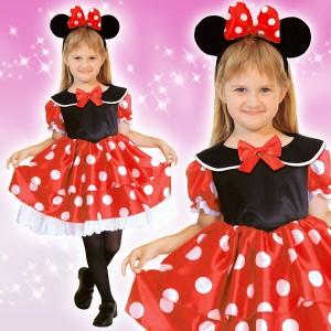 ディズニー コスチューム 子供 女の子用 Mサイズ ミニー 仮装