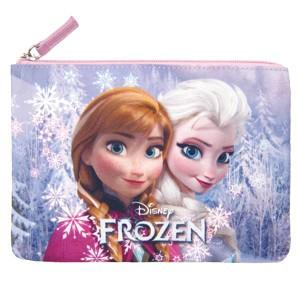 新生活 プレゼント 在庫限り: フラットポーチ ピンク アナと雪の女王 ディズニー (ORAY)