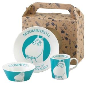 新生活 プレゼント 取寄品:3週間前後 ムーミン 食器3点セット (ケーキ皿・ボウル・マグカップ) 陶器製 かわいいキッチン用品