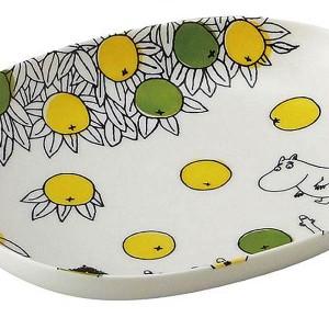 新生活 プレゼント ムーミン ペアオーバルボウルセット (楕円皿/パスタ皿) シトラスドットシリーズ MOOMIN キッチン用品
