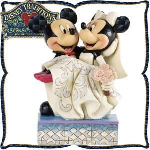 新生活 プレゼント ディズニー 木彫り調フィギュア ミッキーマウス ミニーマウス 「Congratulations」 結婚おめでとう! ディズニー・ト
